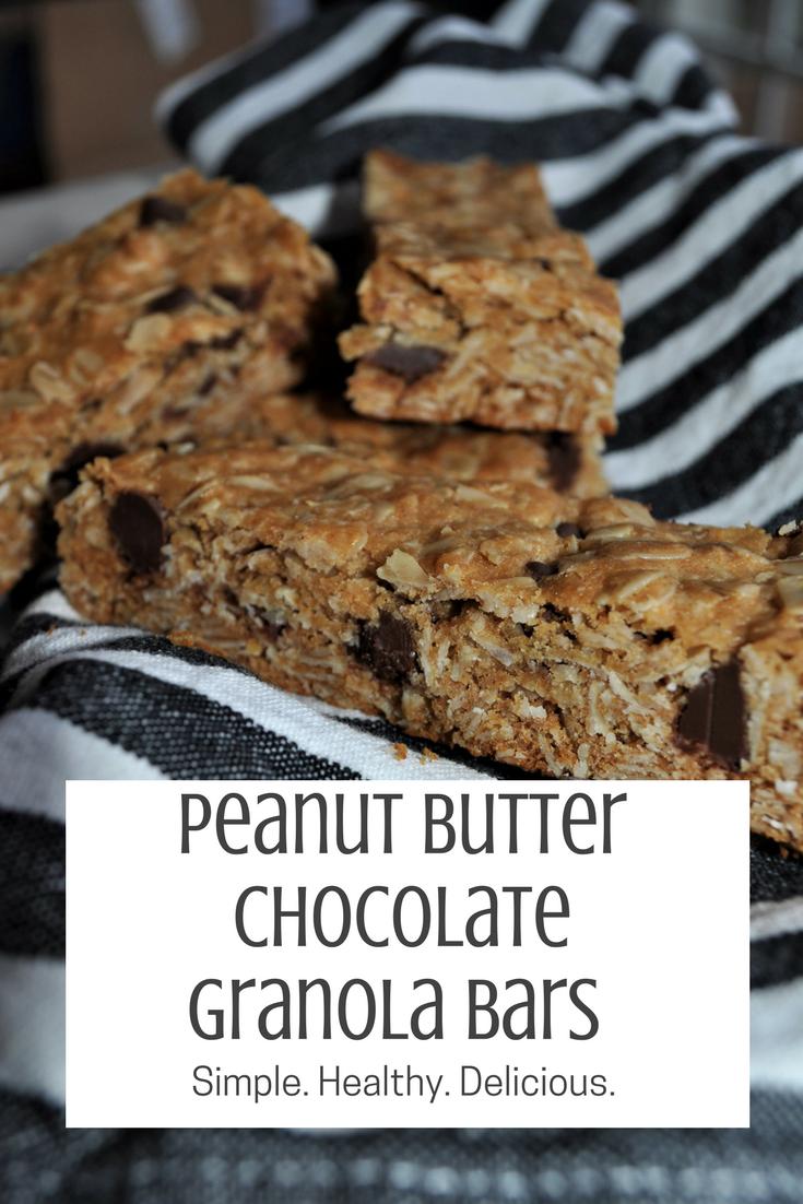 Peanut Butter Chocolate granola bars (1)
