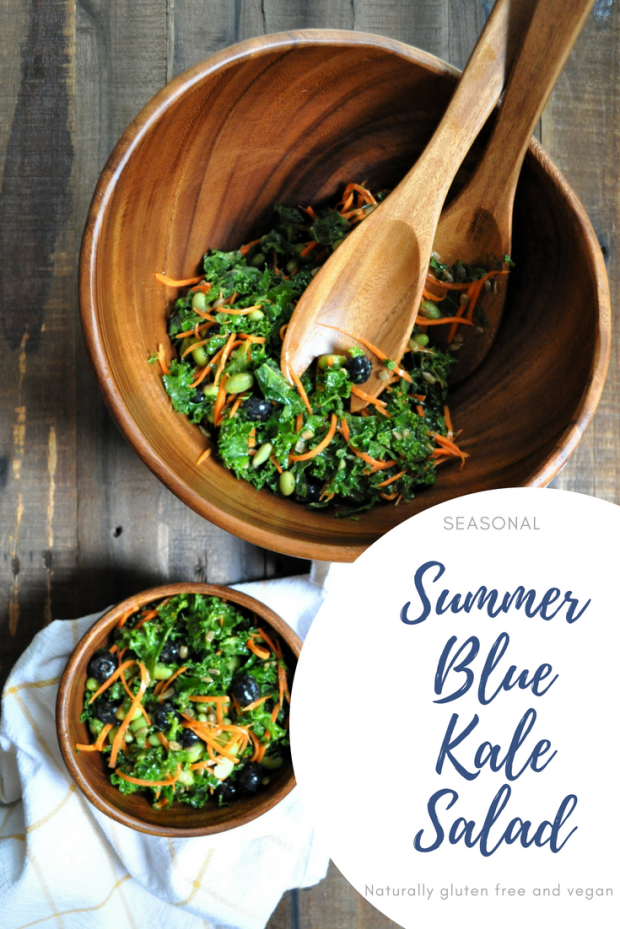 Summer BlueKale Salad