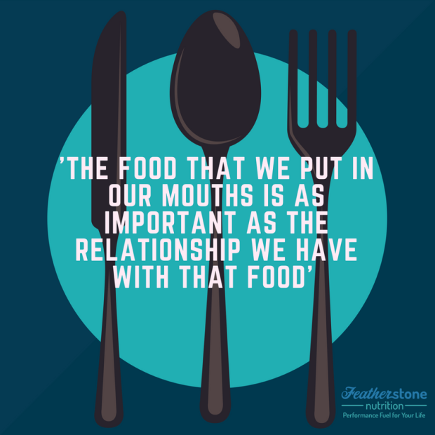 'The food that we put in our mouths is as important as the relationship we have with that food'