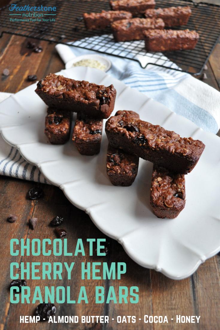 Chocolate Cherry Hemp Granola Bars (2)