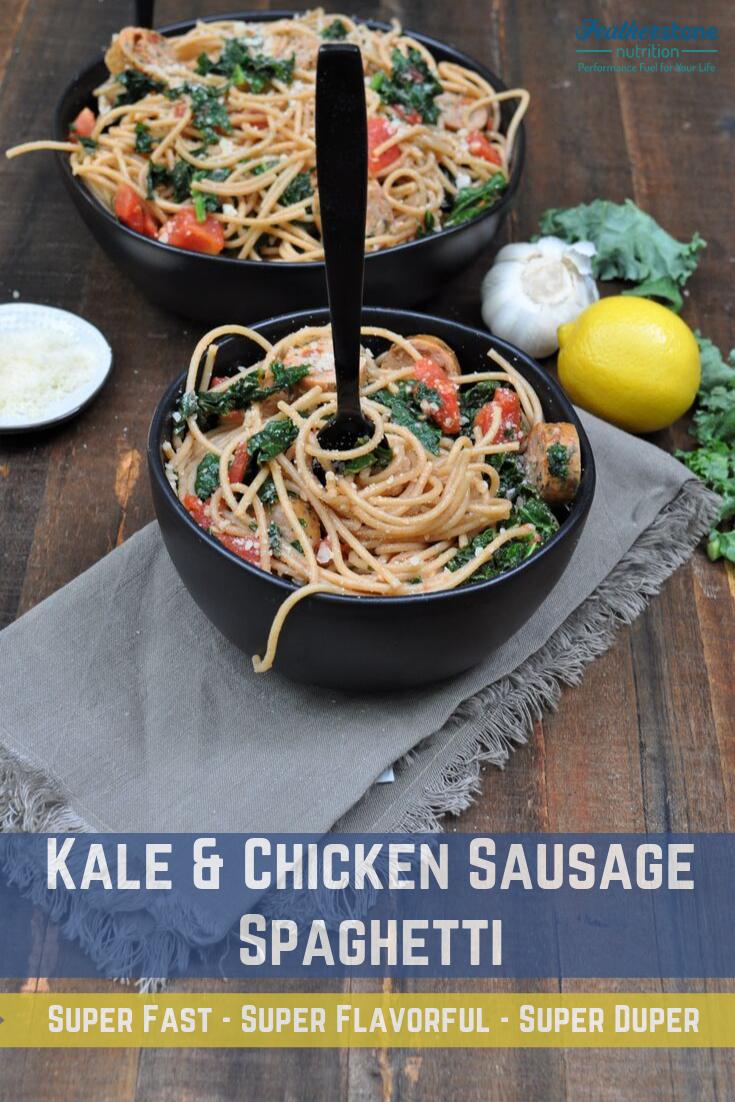 Kale, Chix Sausage Pasta