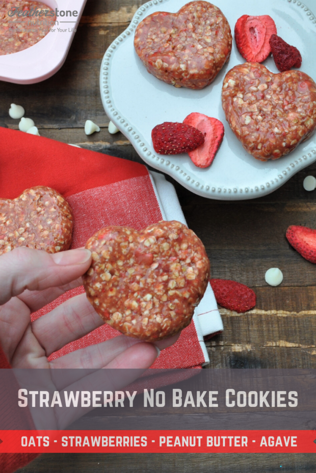 Strawberry No Bake Cookies