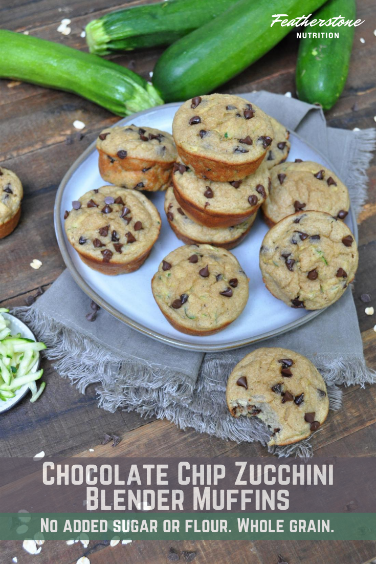Chocolate Chip Zucchini Blender Muffins